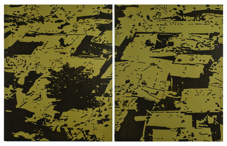 Ihosvanny Cisneros, 'Ghetto Roofs (Diptych) ', 2014