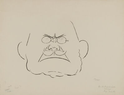 George Grosz, 'Oberarzt Dr. Bautze (Chief Physician Dr. Bautze)', 1927