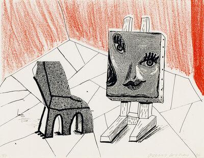 David Hockney, 'Celia with Chair', 1986