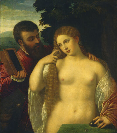 Follower of Titian, 'Allegory (Possibly Alfonso d'Este and Laura Dianti)'