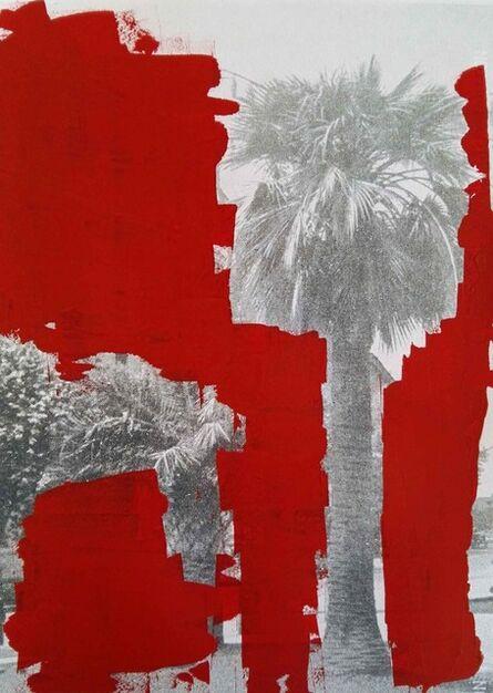 Giuseppe De Mattia, 'Cancellature rosso scarlatto - Le palme di Luca, Bologna 2016-2017 ', 2017