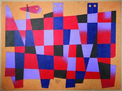 Carlos Merida, ' Composition aux personnages', 1981