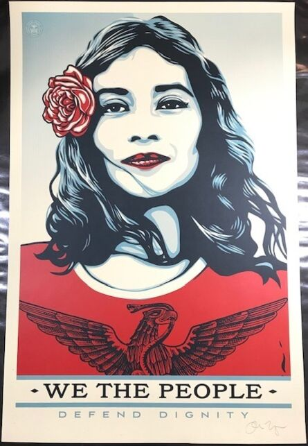 """Shepard Fairey, '""""We The People""""  Defend Dignity ', 2017"""