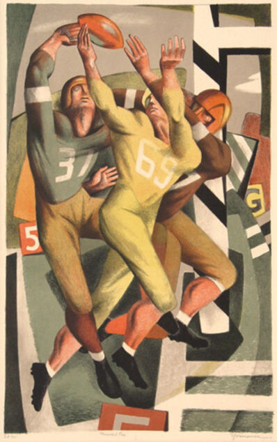 "Benton Spruance, '""Forward Pass"" or ""Football""', 1944"