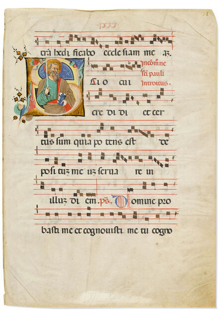 Cristoforo Cortese, 'Saint Paul in an initial 'S' on a leaf from a Medieval Gradual', c. 1426-1430