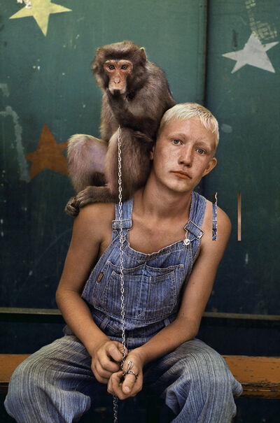 Steve McCurry, 'Russian circus boy in Uzbekistan with his monkey', 2005