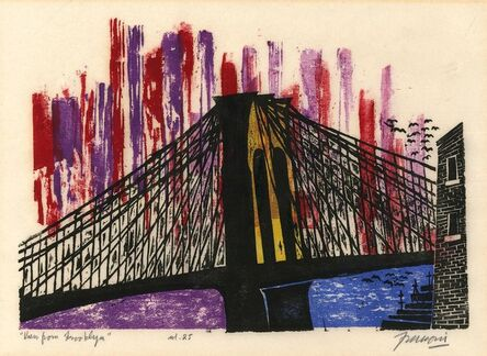 Antonio Frasconi, 'View From Brooklyn.', ca. 1970