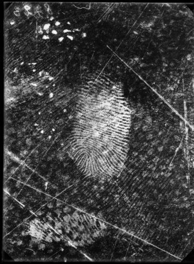 Rodolphe A. Reiss, 'Fingerprints found on oilcloth, Jost Grand-Chêne case, Lausanne, 25 November', 1915