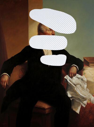 Shawn Huckins, 'Disagree to Disagree (John Tyler, White House Art Collection Erasure No. 21)', 2018