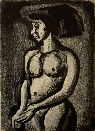 Georges Rouault, 'Naked Woman, to the Left [Femme Nue, vers la gauche]', 1955