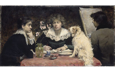 Louise-Catherine Breslau, 'The Friends (Les amies)', 1881