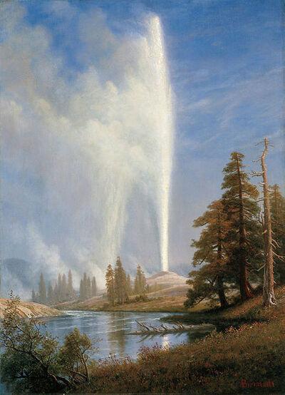Albert Bierstadt, 'Old Faithful', ca. 1881