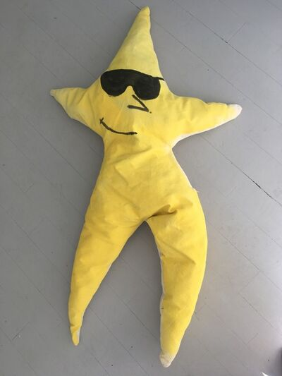Superpoly, 'Starfish with Sunglasses Coussin / Handpainted Oversized Throw Pillow', 2018