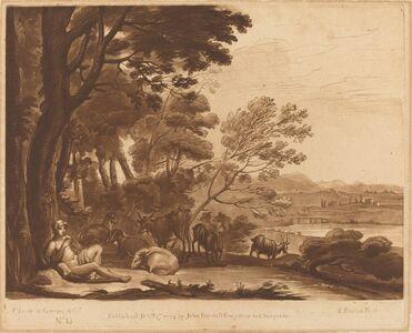"Richard Earlom after Claude Lorrain, 'Landscape No. 15 from ""Liber Veritatis""'"