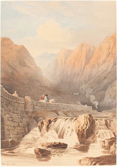 John Varley, 'Pont Aberglaslyn', 1812