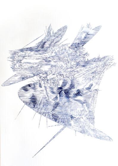 Lyndi Sales, 'Erosion drawing 4', 2017
