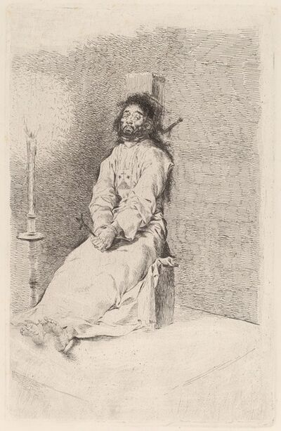 Francisco de Goya, 'The Garroted Man', in or before 1780
