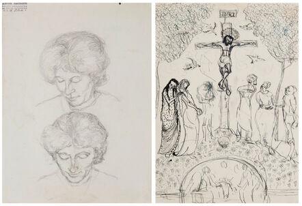 Alberto Giacometti, 'Double étude d'Annetta Giacometti', ca. 1920