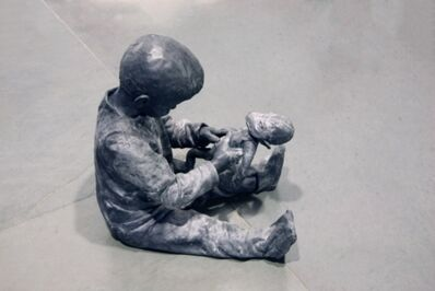 José Cobo, 'Child playing with a rag monkey', 2013
