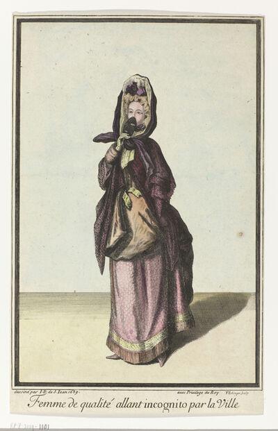 Unknown Artist, 'Femme de qualité allant incognito par la Ville (Quality Woman Going Incognito in the City)'
