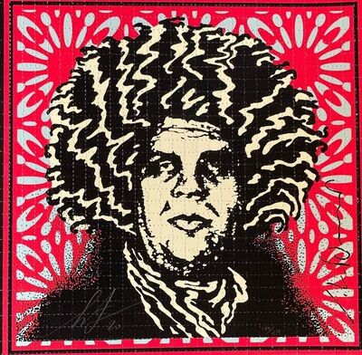 Shepard Fairey, 'Psychedelic Andre  (LSD Bottlers - classic red)', 2020