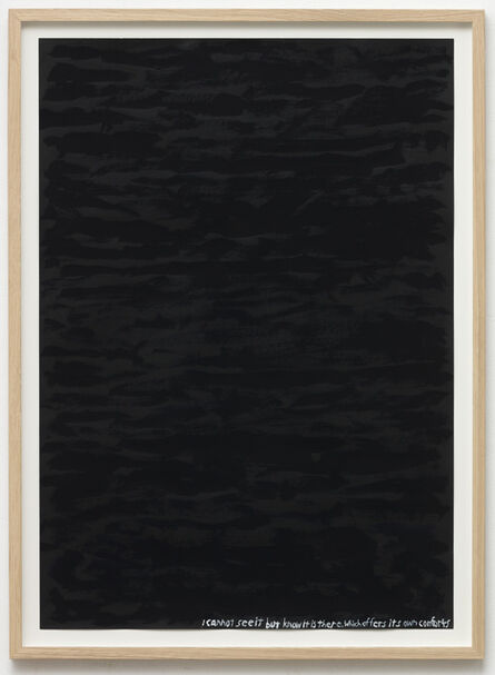 Chris Johanson, 'Untitled (I cannot see it but know it is there. which offers its own comfort)', 2016