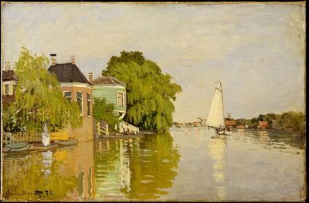Claude Monet, 'Houses on the Achterzaan', 1871