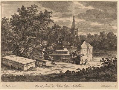Abraham Blooteling, 'Begraef-plaets der Joden, buyten Amsteldam (Jewish Cemetery outside Amsterdam)', 1670