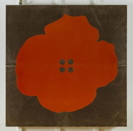 Donald Sultan, 'Red Button Flower July 28 2016', 2016