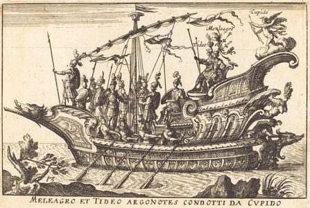 Balthasar Moncornet after Remigio Cantagallina, 'Meleagro et Tideo Argonotes condotti da Cupido'