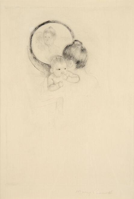 Mary Cassatt, 'Baby Held Before an Oval Mirror', ca. 1900