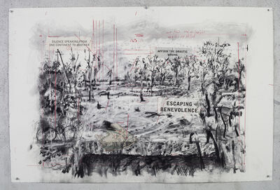 William Kentridge, 'Drawing for City Deep (Silence Speaking from One Continent to Another)', 2019