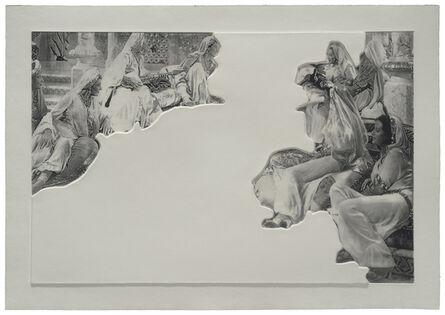 John Baldessari, 'Crowds with Shape of Reason Missing: Example 5', 2012