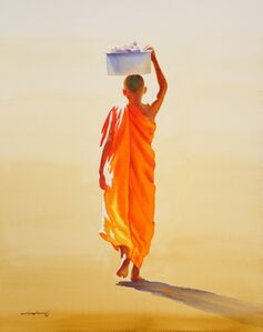 Min Wae Aung, 'Towards Monastery (7)', 2016