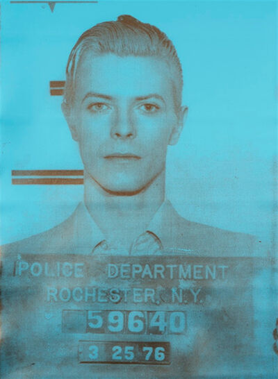 Russell Young, 'Bowie (Aqua & Gold)', 2008