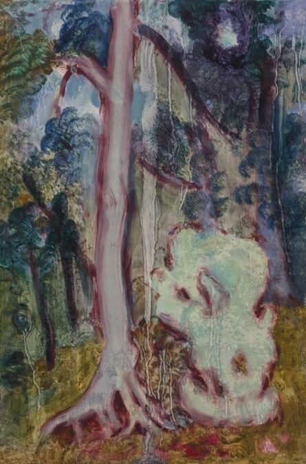 Shi Xinji, 'Trees and Stone in Rain', 2016