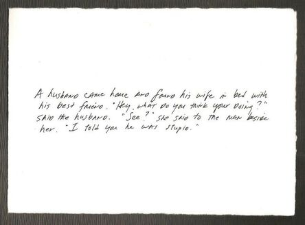 Richard Prince, 'The Greeting Card Jokes #2: The Best Friend', 2011