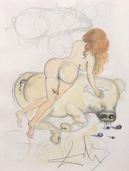 Salvador Dalí, 'Casanova - Girl and Pig', 1967