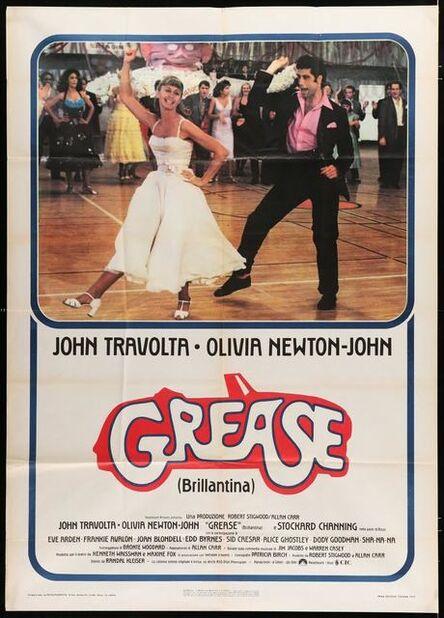 Anon, 'GREASE Italian one-panel movie folded poster '78 John Travolta & Olivia Newton-John classic musical!', 1978