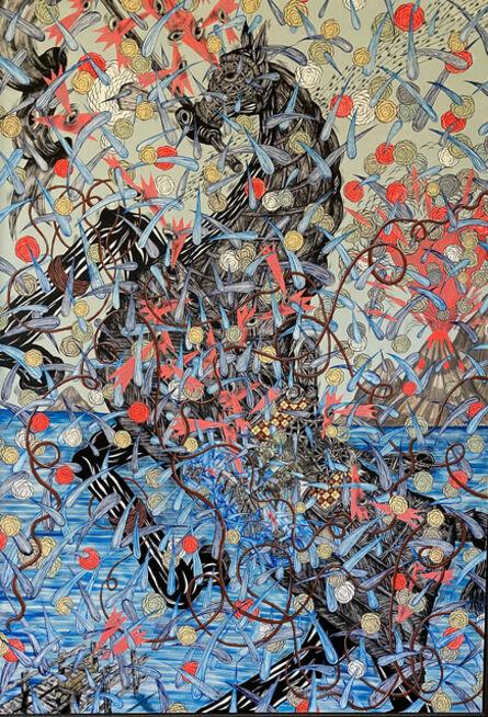 Andrew Schoultz, 'Flying Water (Horse)', 2013