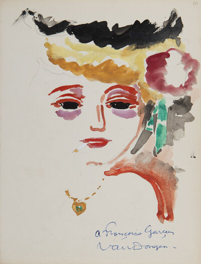 Kees van Dongen, 'Portrait de femme àla cigarette', Unknown