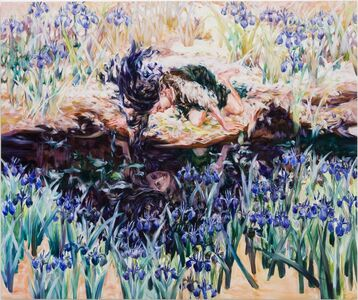 Maiko Kasai, 'Iris and Girl with Blue Hair', 2017