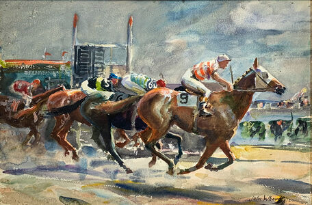 John Whorf, 'Approaching the Finish', 1926