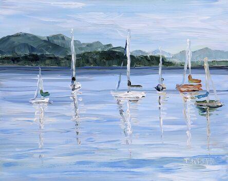 Terrill Welch, 'Anchored Sailboats Village Bay', 2020