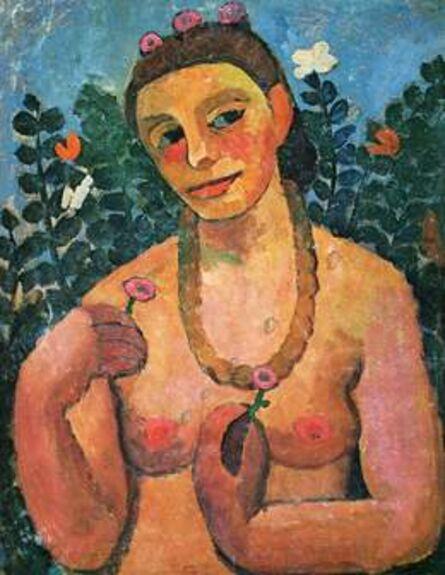 Paula Modersohn-Becker, 'Self-Portrait with an Amber Necklace', 1906