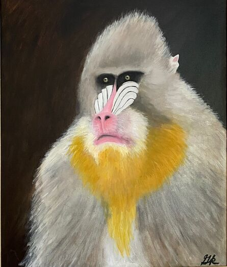 Gemma Kahng, 'portrait of blue monkey ', 2021