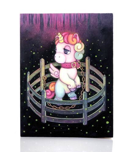 candie bolton, 'Aura: Unicorn in Captivity', 2019