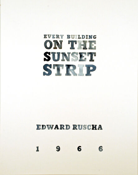Amy Park, 'Ed Ruscha's Every Building on the Sunset Strip, title page', 2016