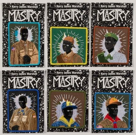 Kerry James Marshall, 'Set of Six (6) Separate Scout Series (MASRY) Embroidered Patches', 2017