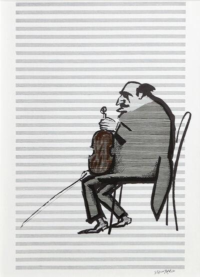 Saul Steinberg, 'Violinist from Derrière le Miroir ', ca. 1965